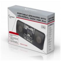 Gembird SPK321i Portable speakers with universal dock for iPhone and iPod Black
